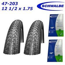2x Schwalbe HS140 47-203 12 1/2x1.75 Pram Push Chair Tyres Pair and Tubes