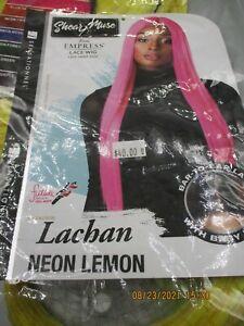 SHEAR MUSE  - LACE WIG  LACHAN NEON LEMON  -  NEW