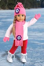 Ice Skating Fun - Winter 18 inch Doll Clothes, Blouse Leggings Hat Scarf Mittens