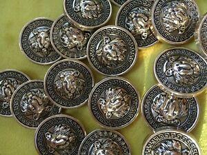 Löwenkopf * 50 st.* Knöpfe.Buttons.Gold.Bronze.Mantelknöpfe.Lionhead