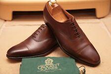 Crockett and Jones Hallam Men's Brown Leather Oxford Shoes UK 8
