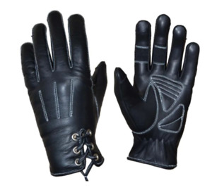 Ladies Leather Motorcycle Gloves Available in Black / Purple / Pink