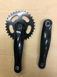 Crankset, Square Taper, 32T, 170mm Aluminum Arms, Black, Take-off, New-Other