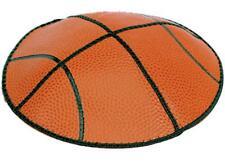 BASKETBALL EXCLUSIVE KIPPAH KIPPOT YARMULKA YARMULKE ORANGE AND BLACK