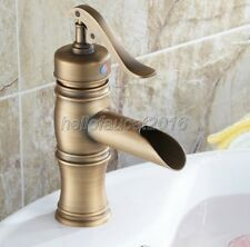 "Antique Brass NEW ""Water Pump Look"" Style Bathroom Vessel Sink Faucet"