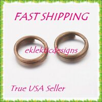 10mm 1.4mm 50pc Antique Bronze Iron Based Alloy Split Double Jump Rings FASTSHIP