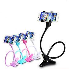 Flexible 360°Clip Mobile Cell Phone Holder Lazy Bed Desktop Bracket Mount Stand