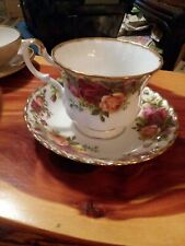 Antique Cup And Saucer Old Country Roses Royal Albert Bone China England