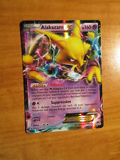 NM Pokemon ALAKAZAM EX Card FATES COLLIDE Set 25/124 XY X and Y Ultra Rare 160HP