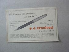 ADVERTISING PUBBLICITA' per il regalo piu' gradito  ERCOLESI MILANO --  1966