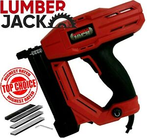 Lumberjack Electric Nail Gun Stapler Tacker 240v 32m 18 Gauge Nailer Heavy Duty