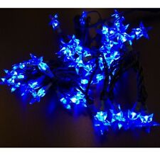 Cadena de Luces Led Estrella de Navidad Azul Estrellas Luminosas Navidad