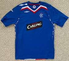 Umbro Youth Rangers Football Club Scotland Soccer Jersey Carling Blue XL