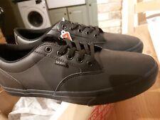 Vans Black Leather Winston Shoes. (Sz UK 11)