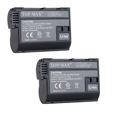 2PCS EN-EL15 Battery 1950mAh for Nikon 1 V1 D7200 D7100 D750 D600 D700 D810