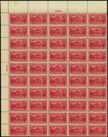 644, Mint VF/XF Sheet of 50 2¢ Stamps Brookman $385.00 - Stuart Katz