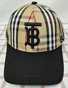 Burberry TB Baseball Cap Brown Men Women Adjustable Cap Medium