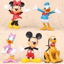 Mickey Mouse Figure Minnie Mouse Donald Duck Figurine Collectible Toy 5pcs
