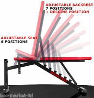 ~! Folding Weight Bench Home Gym Exercise Lift Lifting Chest Press Leg Fitness ~