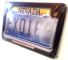 Motorcycle Clear Anti Photo License Plate Cover Shield & Black Metal Frame Combo