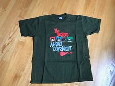 The Beatles A Hard Day's Night T-Shirt Green 100% Cotton Other Wear Logo Size L