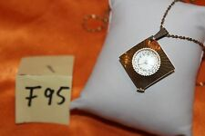 Vintage Caravelle Wind Up Necklace Pendant Watch RUNS F95