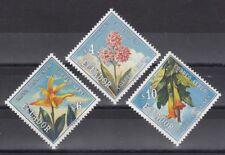 TIMBRE STAMP 3 EQUATEUR Y&T#560-62 FLEUR FLOWER NEUF**/MNH-MINT 1972 ~B44