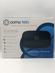 Ooma Telo Smart Home Internet Phone Service Free Nationwide Calling Black NIB