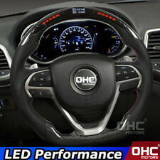 Real Carbon Fiber LED Steering Wheel for Jeep Grand Cherokee LED Performance