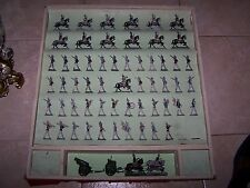 Large Set of Semi-Flat DieCast Tin Figures French Prussian? 60 pieces