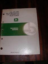 Old 1991 John Deere 21c, 21s, 25s, 30s 38B Technical Manual, used, in good shape