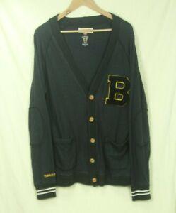 Mitchell & Ness Vintage NHL Boston Bruins Cardigan Sweatshirt XL Grandpa Sweater