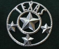 TEXAS LONGHORN ALUM LONE STAR STATE WALL PLAQUE  In or Outdoor Barn Ranch Sign