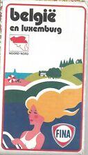 Carte routière FINA - Belgique & Luxembourg - (de rouck) - 1962-1964