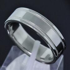 Tiffany & Co. Platinum PT950 6MM Wide Milgrain Wedding Band Ring Size 9.25