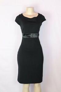 BRAND NEW ISAAC MIZRAHI FOR TARGET BLACK SHEATH PONTE' KNIT DRESS W/BOW SIZE MED