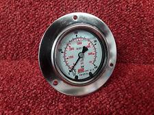 """63 mm 2.5"""" FLANGIA ANTERIORE MANOMETRO 0-5800psi 0-400BAR in acciaio inox riempito di liquido *"""