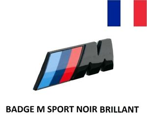 Badge Logo Coffre BMW M Sport Noir Brillant 73mm Embleme Malle Série 1 2 3 4 5
