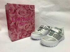 LELLI KELLY Daisy White/Silver Girl's Shoes Trainers Size UK 12/12.5/13/2.5/3/4