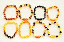 Natural Baltic Amber Bracelet Anklet for Adults SAFE BQ 4.3-10.6 Inch 12 Colors