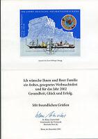 Bund Block 57 - Jahresgabe Philatelie 2001 - Antarktisforschung