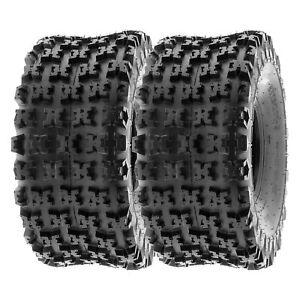 SunF 20x11-8 ATV Tires 20x11x8 AT Race Tubeless 6 PR A027  [Set of 2]