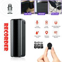 8GB Mini Magnetic Digital Voice Activated Recorder Spy Audio Sound Recorder