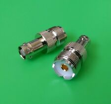 (5 Pcs) Uhf Female So239 to Bnc Female Connector - Usa Seller
