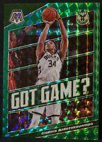 🔥2019-20 Mosaic Giannis Antetokounmpo Got Game? Green Prizm #25