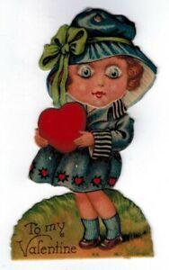 Vintage Valentine TO MY VALENTINE (Germany) (Girl With Moving Eyes)