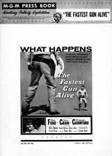 The Fastest Gun Alive pressbook, Glenn Ford, Jeanne Crain PLUS ONE SHEET POSTER