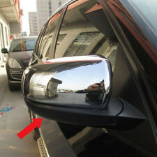 Fit BMW X5 2011 2012 2013 Rear View Mirror Side Cover Trims Chrome Molding