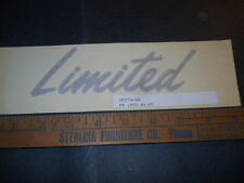 """1993 1994 CHRYSLER DODGE PLYMOUTH """"LIMITED"""" FENDER DECAL NOS 0FZ276LD2"""