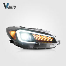 VLAND LED Projector Headlights Fit For Subaru WRX & WRX STI 2015 - 2021 LH+RH